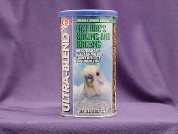 8 in 1 Ecotrition Grains & Greens Variety Blend for Parakeets 8oz