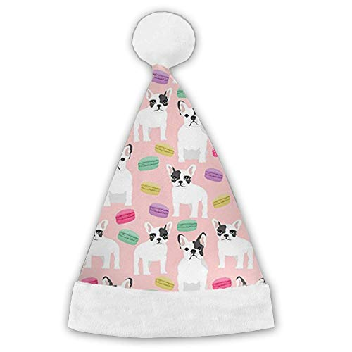 Kux14Bt French Bulldog Macaron Sweets Funny Party Hats