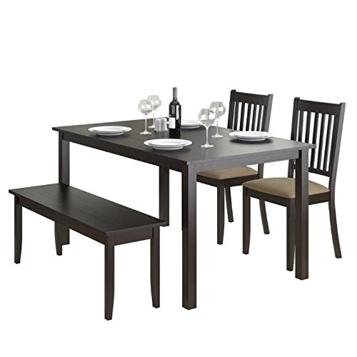 CorLiving 4 Piece DRG-795-Z2 Atwood Dining Set with Stained