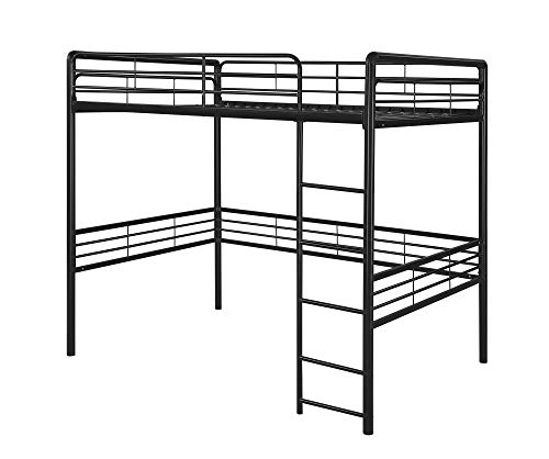 DHP Full Metal Loft Bed with Ladder