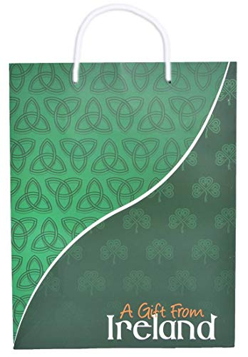 A Gift from Ireland Gift Bag with Celtic Shamrock and Trinity Knot Design ()