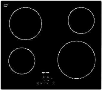 Bosch PKE611B17E hobs - Placa (Incorporado, Cerámico, Tocar, Parte superior delantera, 1m) Negro