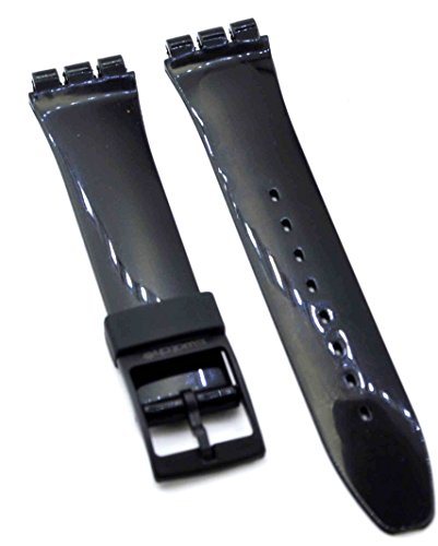 ack Rubber, Silicone for Swatch Replacement Watch Band Strap Free Spring BAR Tool SWC101 ()