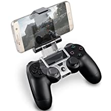 Fosmon PS4 Smart Clip Holder for PlayStation 4 DualShock Controller, Smartphone Game Mount with OTG Data 6 inch Cable for Samsung Galaxy S7/S6/S5, Note 5/4/3, HTC, LG, Android Devices