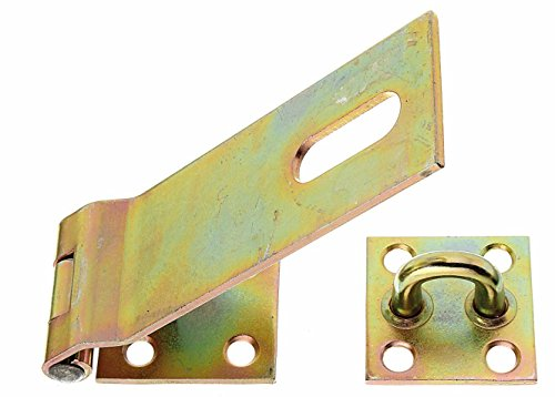 GAH-Alberts 348373 Sicherheits-Überfalle, galvanisch gelb verzinkt, Plattengröße: 50 x 68 mm / Länge Überfalle: 153 mm