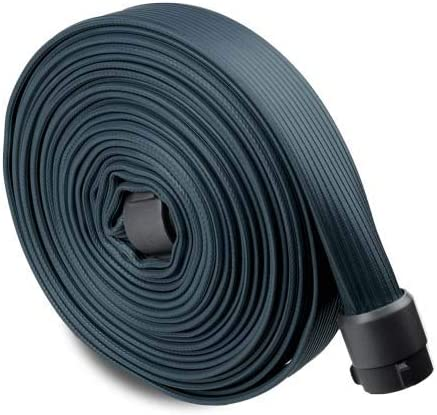 Black 1 1//2 x 50 Rubber Industrial Hose with Aluminum NH Couplings