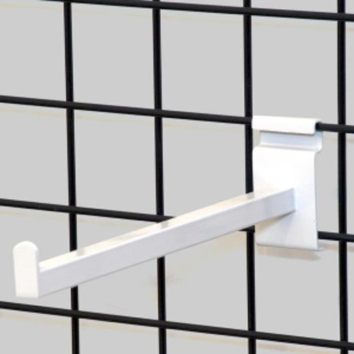 Box of 25 New Black Rectangular Tube Gridwall Faceout 12 Inch Long