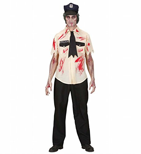 Mens Zombie Policeman Costume Small Uk 38/40