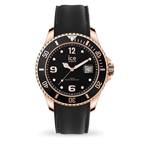Ice-Watch - ICE steel Black Rose-Gold - Reloj nero para Hombre con Correa de silicona - 016766 (Large)