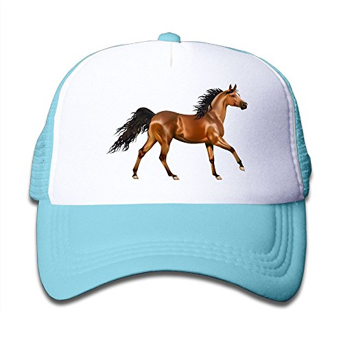 Poii Qon 3D Horse Kid's Washed Adjustable Mesh Baseball Cap