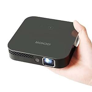 iOCHOW IO4 Mini Proyector, 1080P HD Con DLP 3000 Lúmenes, Proporción Del Contraste 10000: 1, Vida llevada 30.000 Horas, Proyector LED