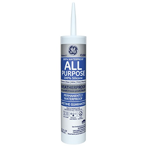 GE Silicone I All Purpose Caulk, 10.1 Oz. Tube, Clear, GE012A (Best Caulk Gun For Silicone)