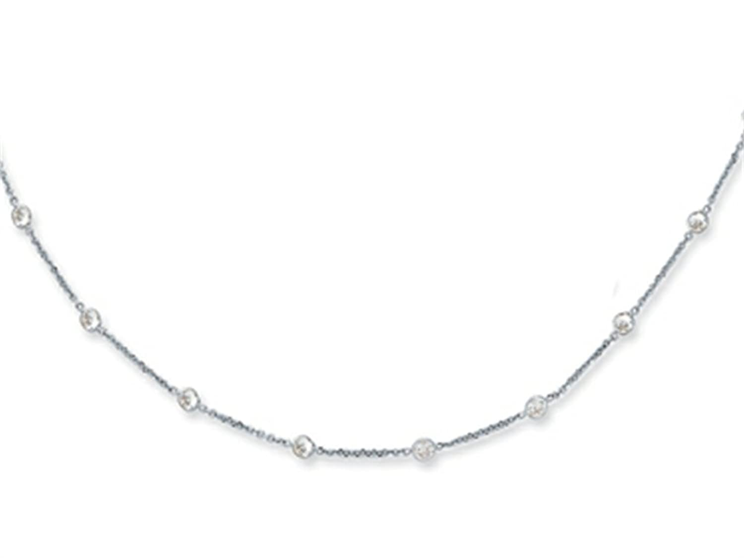 14K 10 Inch CZ by the Yard Anklet with Lobster Clasp