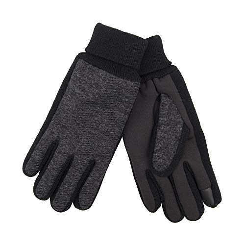 Extra Grip Jersey Gloves (Levi's Men's Jersey Touchscreen Gloves with Stretch Fabric Grip, Charcoal Mix, Large)
