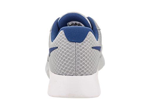Nike Herren Tanjun Print Laufschuh Wolf Grau / Gym Blau Weiß