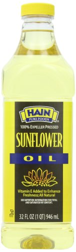 Hain Pure Foods Sunflower Oil, 32 Ounce