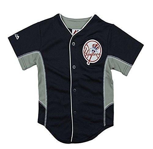 New York Yankees MLB Big Boys Team Leader Jersey - Navy Blue (Large (Mlb Kids Jerseys)