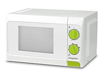 Beper 90.365G - Horno microondas, 20 l, con grill, color blanco