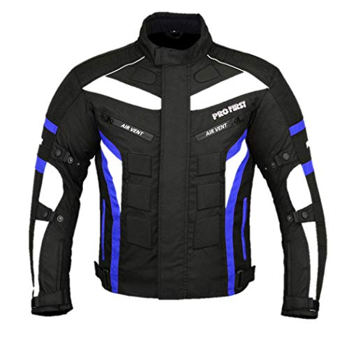 Waterproof Motorbike Motorcycle 2 Piece Full Suit Jacket Trouser in Cordura Fabric and CE Approved Armour Full Black, Extra Small - 29Leg FREE BALACLAVA 6 Packs Design Most Popular