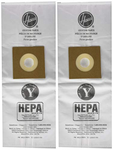 Hoover Paper Bag, Y Hepa Wind-Tunnel (Pack of 2)