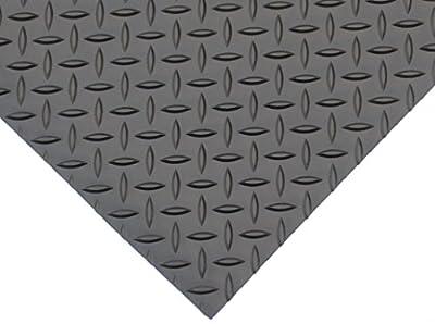 "Rhind|#Rhino Mats DV48X2 Diamond Plate Rubber Flooring, Rubber, 1/8"" Thickness"