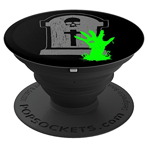 Gothic Pedestal - Zombie Hand Grave Gothic Horror Fan - PopSockets Grip and Stand for Phones and Tablets
