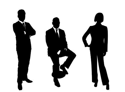 (LAMINATED 32x24 inches Poster: Businessmen Group Silhouette Business People Group Groups Of People Businesswoman Businessman Team Business Teamwork Success Successful Group Of Workers Manager)