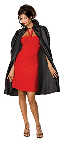 Rubie's Costume Men's Economy Taffeta Cape, Black, One (Cape Taffeta Costumes)