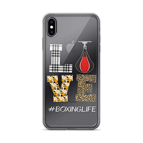 iPhone Xs Max Pure Anti-Shock Clear Case Love Boxing Life]()