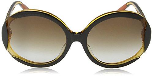 Frame Ronde De Mi805s Brown Femme Soleil Lens gradient Missoni Black yellow Lunette qvIw15xOx8