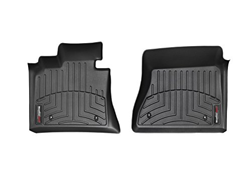 2012-2014 Toyota Tundra Front Set - WeatherTech Custom Floor Mats Liners - Black (Weathertech Floor Mat Toyota compare prices)