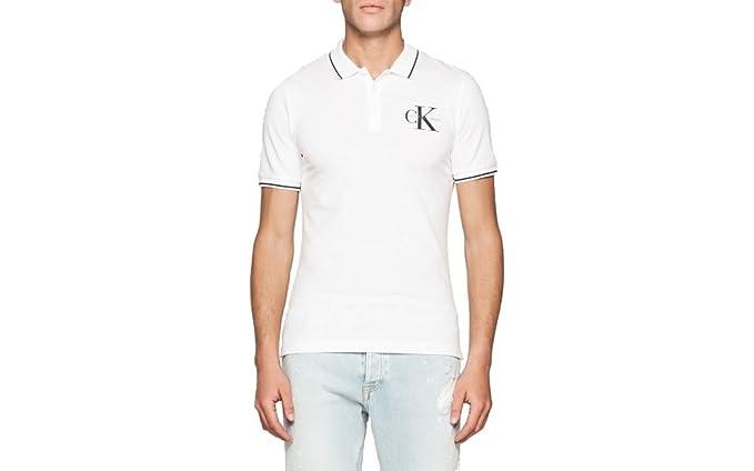 Calvin Klein J30j304671 Polo, Blanco (Bright White), X-Small para ...
