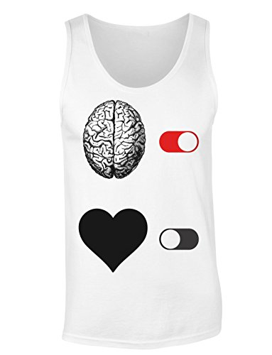 Brain On Heart Off Switch T-shirt senza maniche per Donne Shirt