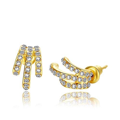 Fashion Colorfu Platinum Plating Claws Studs Earrings Gail D Billings
