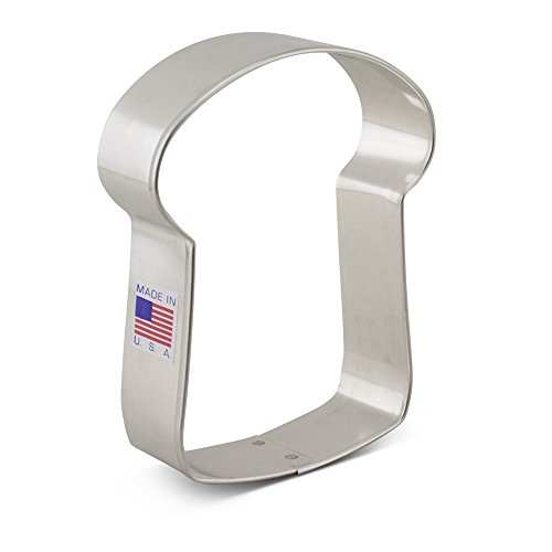 Ann Clark Slice of Bread Cookie Cutter - 4 Inches - Tin Plated Steel