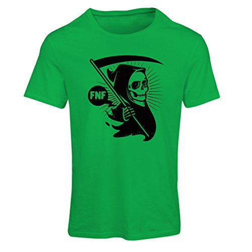 T Shirts for Women Death with Sickle, The Grim Reaper - Halloween Outfits, Cosume Ideas (XX-Large Green Multi Color)]()