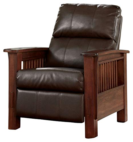 Ashley Furniture Signature Design - Santa Fe Recliner - Manual Reclining Chair - Vintage Casual - Bark