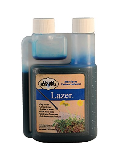 liquid-harvest-lazer-blue-spray-pattern-indicator-8-ounces-perfect-weed-spray-dye-herbicide-dye-fert