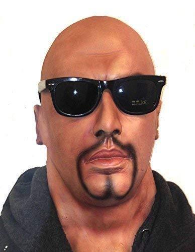 The Rubber Plantation TM 619219294027 - Mascara realista de cabeza completa para hombre con barba de cabra y gafas de latex, accesorio para disfraz de latex, adulto unisex, talla unica