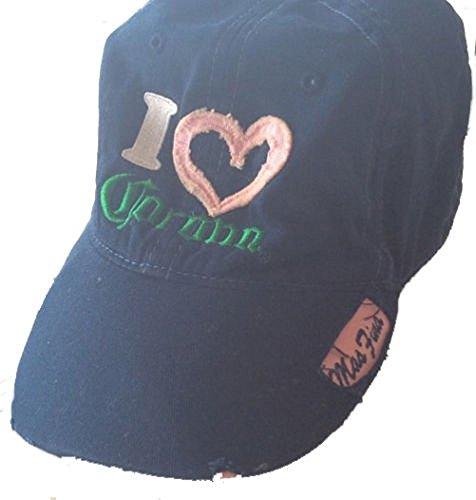Corona Cap - Corona I Love/Heart Corona Womens Blue Adjustable Hat Cap Osfa