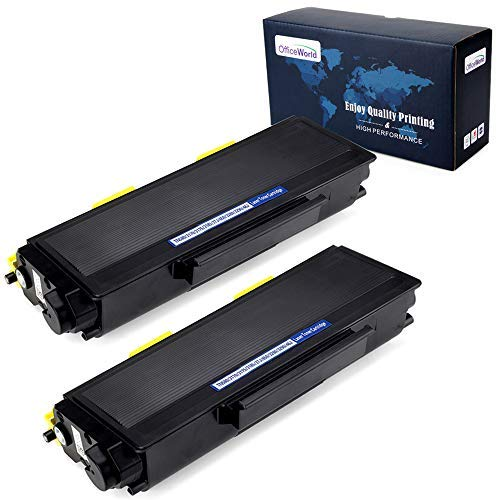 Office World Compatible Toner Cartridge Replacement for Brother TN650 TN-650 TN580 TN-580 for Brother HL-5370DW HL-5250DN HL-5340D MFC-8890DW MFC-8860DN MFC-8480DN HL-5240 (Black, 2-Pack)