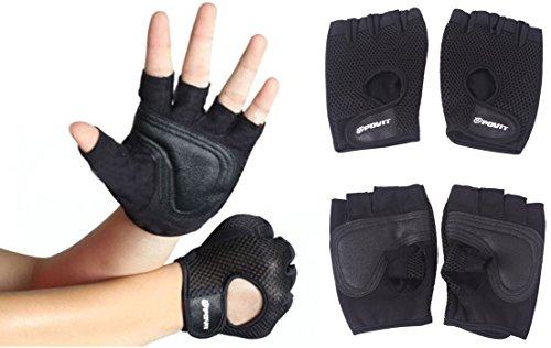 1 Pc (1 Pair) Excellently Popular Sport Fitness Glove Outdoor Decor Hand Cover Gifts Workout Lifting Color Black