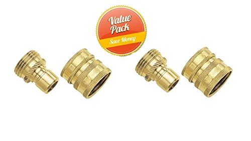 Gilmour 09QCGT 2-Piece Green Thumb Brass Quick Connector Set...