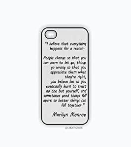 iPhone 5 Case, iPhone 6 plus 5.5 Case - Marilyn Monroe Quote