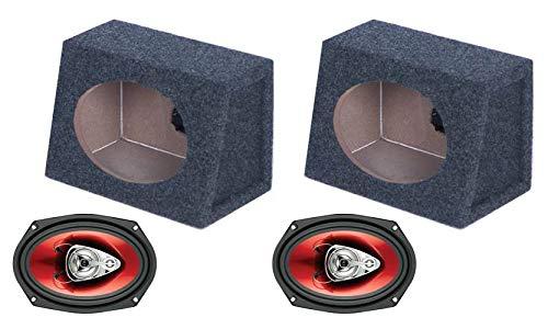 "BOSS CH6930 6x9"" 400W Car Audio Speakers + 2) 6x9"" Speaker Box Enclosures"