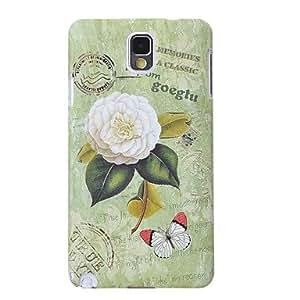 conseguir Plástico del patrón de flor protege la caja para Samsung Nota 3 (modelo aleatorio)