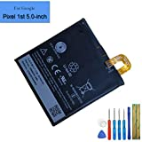 New Replacement Battery Compatible with Google Pixel 1st/Nexus S1 5.0-Inch 2770mAh 3.85V Built-in Battery B2PW4100…