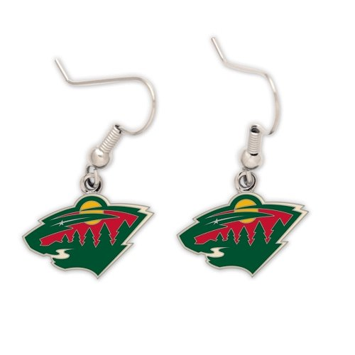 NHL Minnesota Wild Earrings Jewelry Card