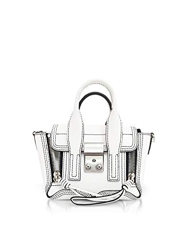Handbag AP18B123NBLOPTICWHITE 1 Lim Leather Phillip 3 Women's White g16Twq