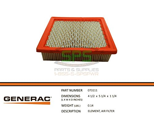 Generac - 073111S Air Filter Element 410 Engine (Filter Generac Air)